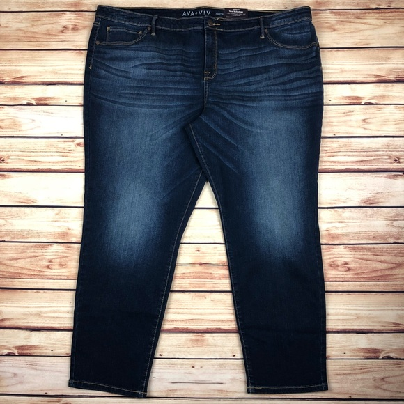 dc96ad6db9ea9 NEW Ava Viv Dark Wash Stretch Jegging Jeans 26W